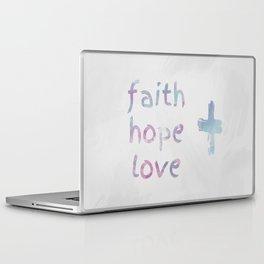 faith + hope + love Laptop & iPad Skin