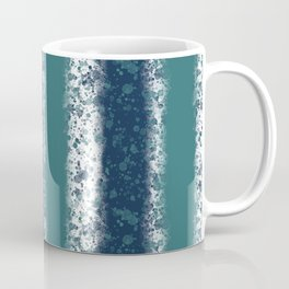Messy Stripes in Navy Blue and Teal Coffee Mug