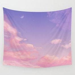 Sky Purple Aesthetic Lofi Wall Tapestry
