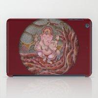 ganesha iPad Cases featuring Ganesha by Sincronizarte