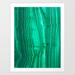Malachite Stone Art Print
