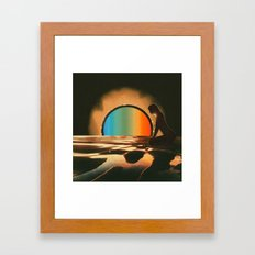 Sunset meditate Framed Art Print