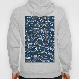 Calligraphy: Godly Women of the Bible | Denim Hoody