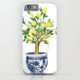 Lemon tree , watercolor painting iPhone Case