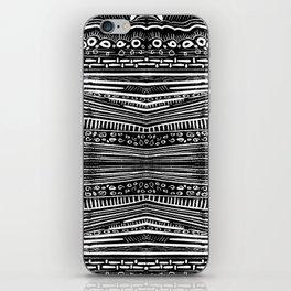 Linocut Tribal Pattern iPhone Skin