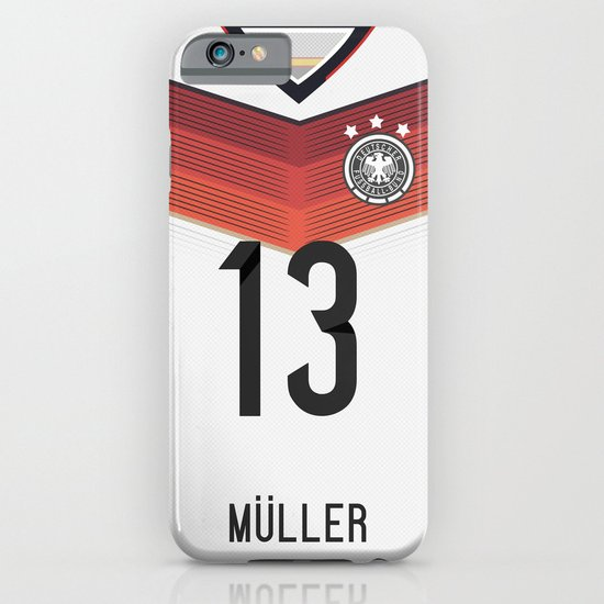 World Cup 2014 - Germany Müller Shirt Style iPhone & iPod Case