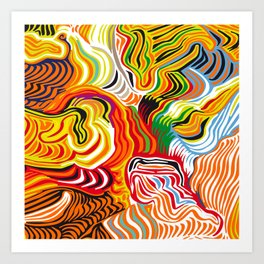 colored flow Art Print