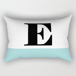 Monogram Letter E-Pantone-Limpet Shell Rectangular Pillow