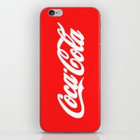 coca cola iPhone & iPod Skins featuring Coca-Cola by Rebekhaart