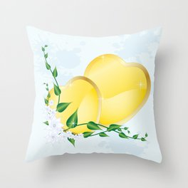 Spring the time for love Throw Pillow