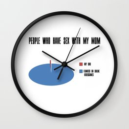 People who have sex with my mom Wall Clock