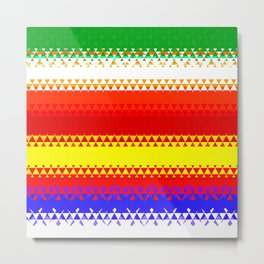 Rainbow Colored Geometric Pattern Metal Print
