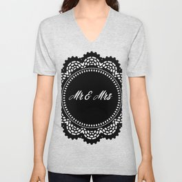 Mr & Mrs Unisex V-Neck