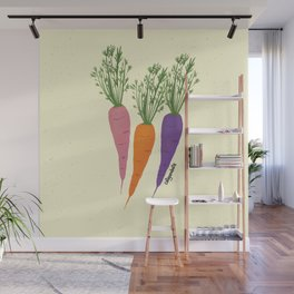 Zanahorias Wall Mural