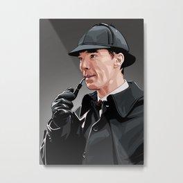 Sherlock Holmes Metal Print