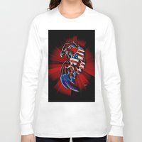 patriotic Long Sleeve T-shirts featuring Patriotic Eagle by Mr D's Abstract Adventures