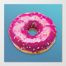 Lowpoly Donut Canvas Print