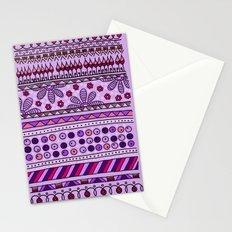 Yzor pattern 001 pink Stationery Cards
