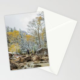 Uncompahgre River outside Ouray Colorado Stationery Cards