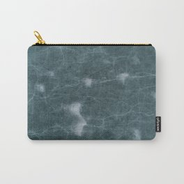 Dark Green Marble Pattern Carry-All Pouch