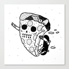 Pepperoni grab Canvas Print