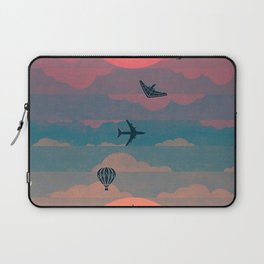 Sunset behind the city Laptop Sleeve