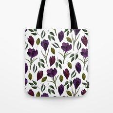 Plum Rose Garden Tote Bag