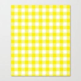 Yellow Vichy Canvas Print
