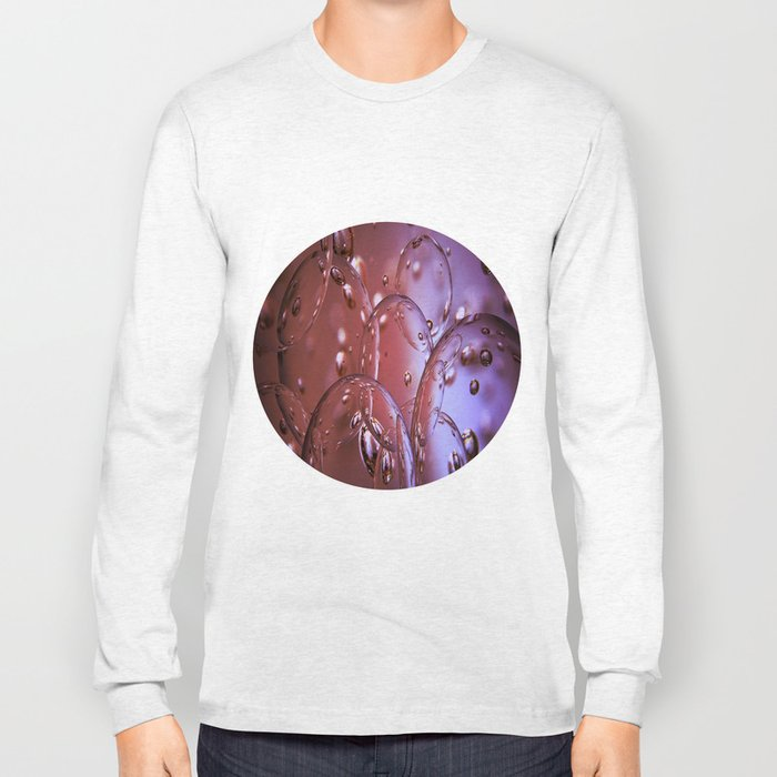 Red Glass Bubbles Long Sleeve T-shirt