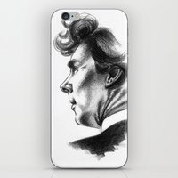 sherlock holmes iPhone & iPod Skins featuring Sherlock Holmes by aleksandraylisk