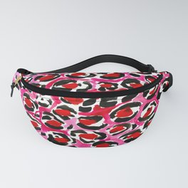 Pink + Red Cheetah Fanny Pack