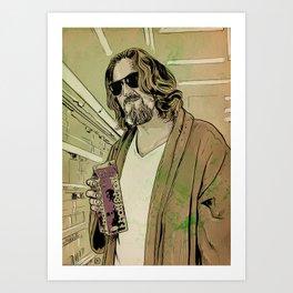 Dude Lebowski Art Print