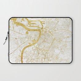 Antwerp Map Gold Laptop Sleeve