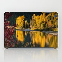 beaver iPad Cases featuring Sunrise Aspens Beaver Creek by John Minar Fine Art Photography