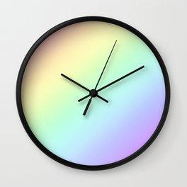 Rainbow Gradient - Pastel Colors Wall Clock