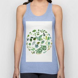Circle of Leaves Unisex Tank Top