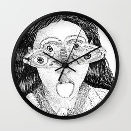 moth girl Wall Clock