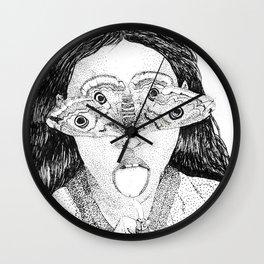 moth girl Wall Clock