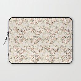 Peach Pink Floral Laptop Sleeve