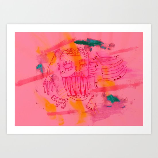 Over me Art Print