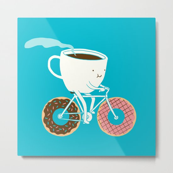 Coffee and Donuts Metal Print