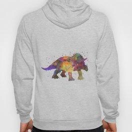 Triceratops dinosaur in watercolor Hoody