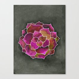 Succulent is the new Rose Canvas Print
