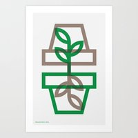 plants Art Prints featuring Plants by Dylan C. Lathrop