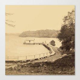 Vintage Adirondacks: Ticonderoga Boat Landing Canvas Print