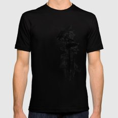 Enchanted forest LARGE Mens Fitted Tee Black