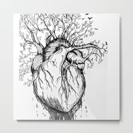 Heart of Nature Metal Print