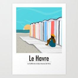 Cabanes de plage Art Print