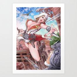 Assassin's xxx 2 female version actionpost Art Print