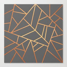 Copper And Grey Canvas Print